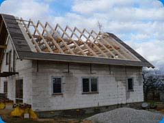 Sedlový krov střechy novostavby rodinného domu Bezděkov (Klatovy)