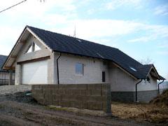Valbový krov střechy novostavby - rodinný dům Slavošovice (Klatovy)