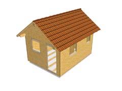 Dřevěný zahradní domek - masivní stěna 94mm
